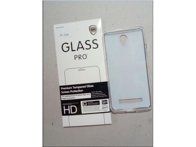 Set Husa Silicon si Folie sticla securizata Allview - 1/1