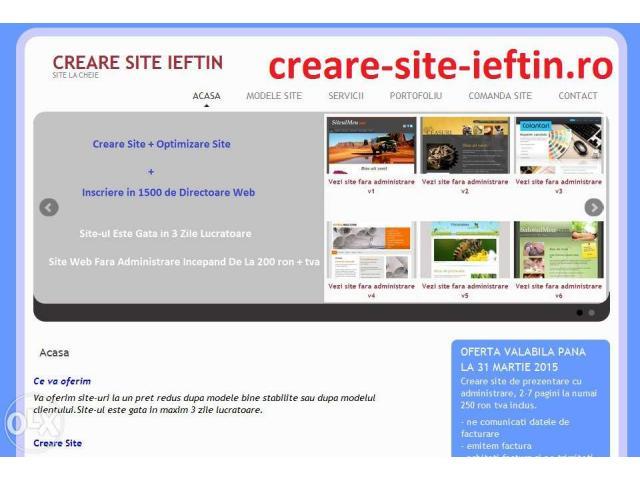 Creare site ieftin, creare site, creare magazin online, - 1/1