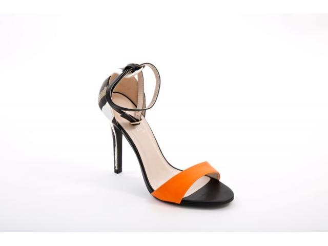 Sandale dama Napoli portocalii - 1/1