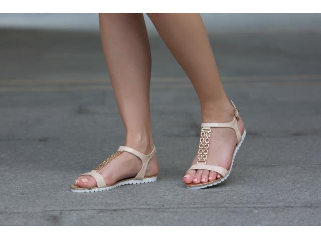 Sandale dama Melissia bej - 1/1