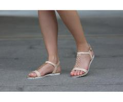 Sandale dama Melissia bej