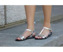 Sandale dama Rafina silver