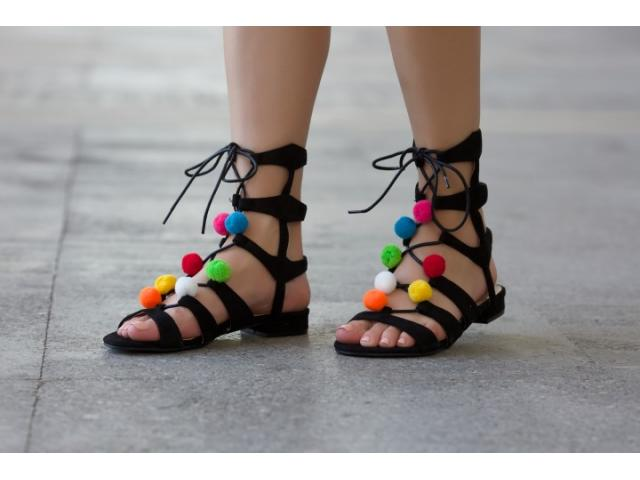 Sandale dama Leon negre - 1/1