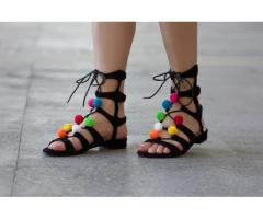Sandale dama Leon negre