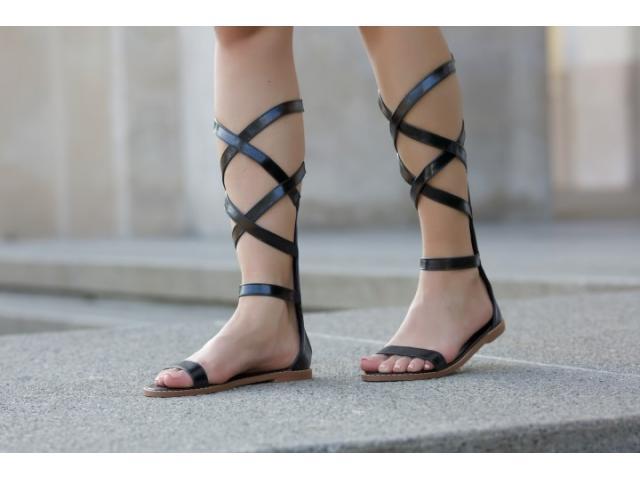 Sandale dama Bolton negre - 1/1