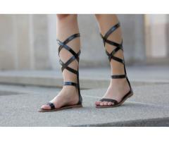 Sandale dama Bolton negre