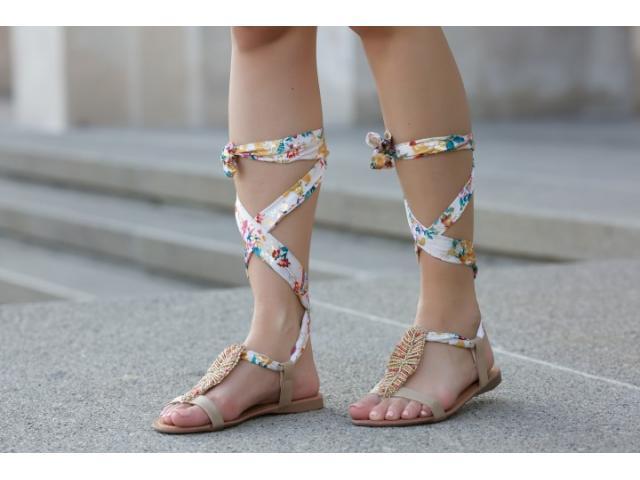 Sandale dama Livorno aurii - 1/1