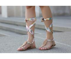 Sandale dama Livorno aurii