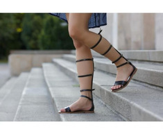 Sandale dama Gladiator negre