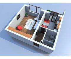 Apartament 1 camera, la cheie, imobil nou, Sebes
