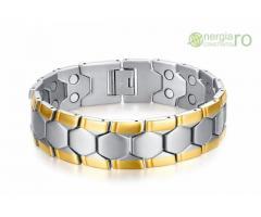 Bratara Magnetica din INOX poleita cu aur de 18k