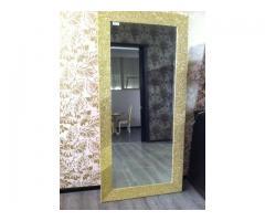 Oglinda cu rama din foita de aur /Showroom Classlife