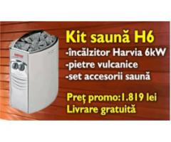 Kit incalzire sauna + accesorii H6