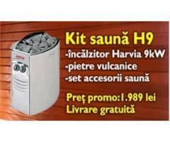 Kit incalzire sauna + accesorii H9