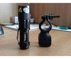 Lanterna bicicleta LED CREE Q5 si 2 acumulatori 2500mAH - Poza 2/5