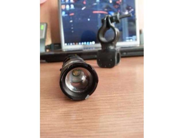 Lanterna bicicleta LED CREE Q5 si 2 acumulatori 2500mAH - 3/5