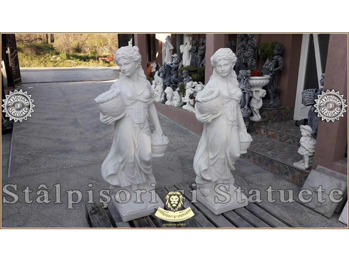 Statueta domnita cu cosulete din beton model S23. - 2/5