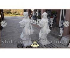 Statueta domnita cu cosulete din beton model S23. - Poza 2/5
