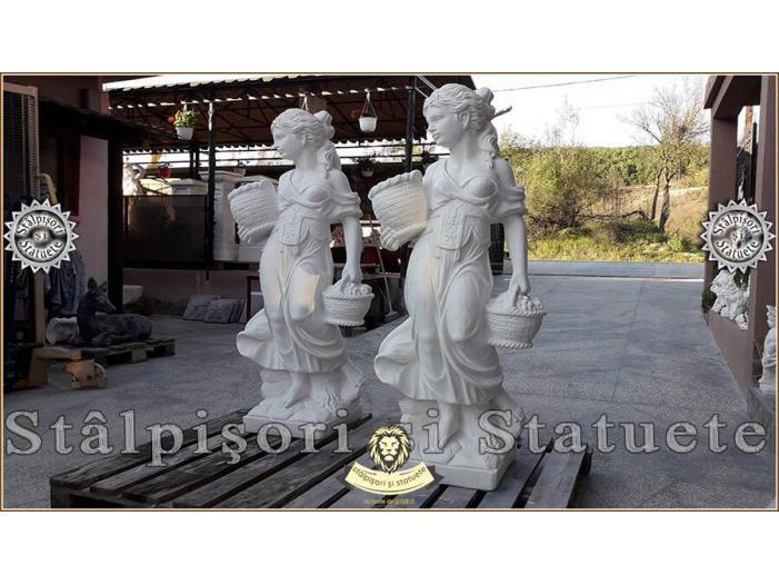 Statueta domnita cu cosulete din beton model S23. - 3/5