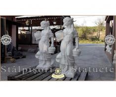 Statueta domnita cu cosulete din beton model S23. - Poza 3/5