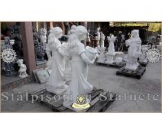 Statueta domnita cu cosulete din beton model S23. - Poza 4/5