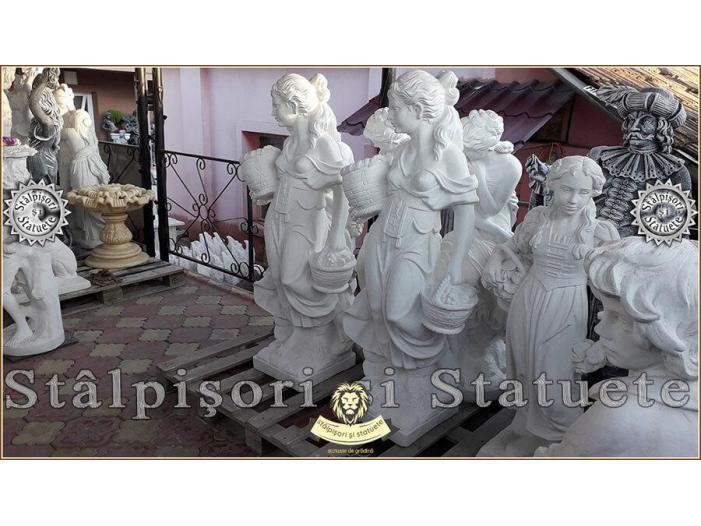 Statueta domnita cu cosulete din beton model S23. - 5/5