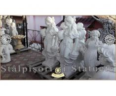 Statueta domnita cu cosulete din beton model S23. - Poza 5/5
