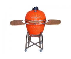gratar din ceramic portocaliu mare