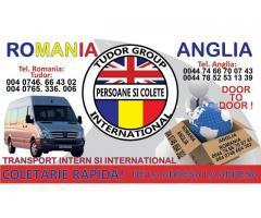 Transport colete/persoane/marfa Romania-Anglia
