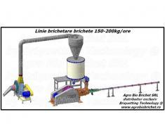 Linie brichetat brichete 150-200 kg/ora