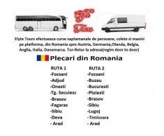 Transport persoane si colete in Europa