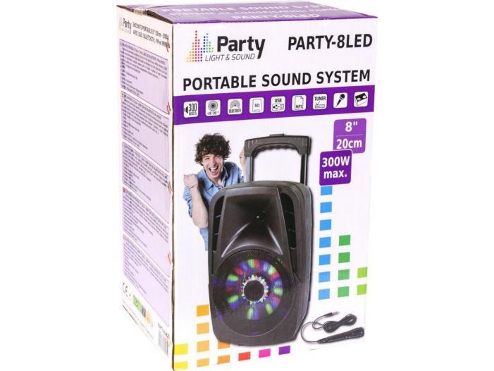 Boxa portabila Bluetooth 300W cu Radio FM,USB/SD - 1/3