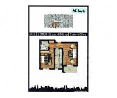Apartament 2 camere, 51mp, Militari