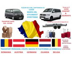 Ofer servicii transport persoane Germania
