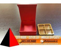 Cutie rigida cu magnet pentru 4 praline sau bomboane - Cutii Rigide