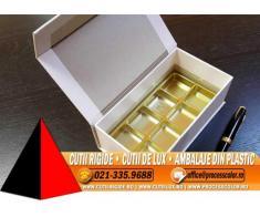 Cutie rezistenta din carton dur pentru bomboane, praline - Cutii Rigide