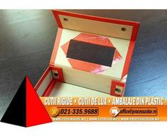 Cutie pliata din carton tare - Cutii Rigide