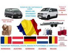Transport persoane Craiova - Bruxel la adresa