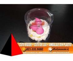 Ambalaje transparente pentru minitorturi, prajituri, bomboane - Cutii Rigide