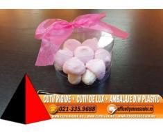 Cilindri transparenti pentru figurine marshmallow - Cutii Rigide