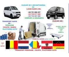 transport persoane  Belgia-Germania