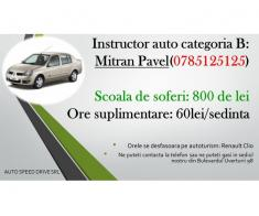 Instructor auto catB, sector 5