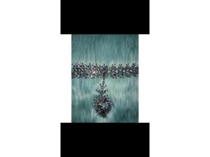 Choker din cristale cu reflexie multicoloră - 4/5