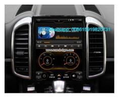 Porsche Cayenne 10.4inch radio Car GPS Vertical screen - Poza 1/4