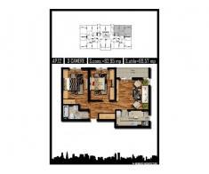 Apartament 3 camere,decom, 70mp, Militari, Carrefour
