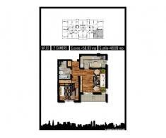 Apartament 2 camere, decom, 49mp, Militari Praktiker