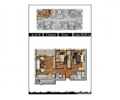 Apartament 3 camere, 70 mp, decom, parter inalt, Militari Rosu