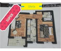 Oferta Apartament 2 camere, 52mp, Preciziei, Militari, decomandat