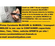 ANGAJARE personal curatenie blocuri subsoluri