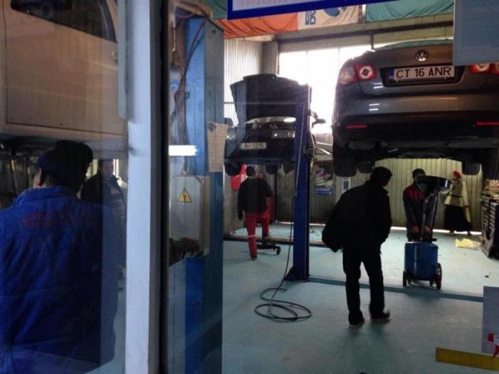 Sudura evacuari auto in Constanta. Iulius Service - 2/3
